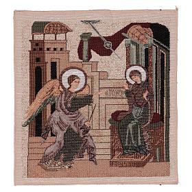 Arazzo Annunciazione Bizantina 30x30 cm s1