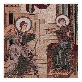 Arazzo Annunciazione Bizantina 30x30 cm s2