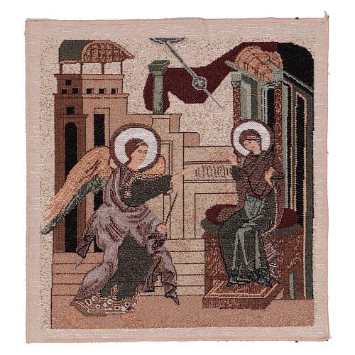 Arazzo Annunciazione Bizantina 30x30 cm 1