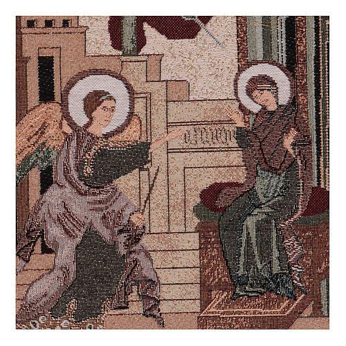 Arazzo Annunciazione Bizantina 30x30 cm 2