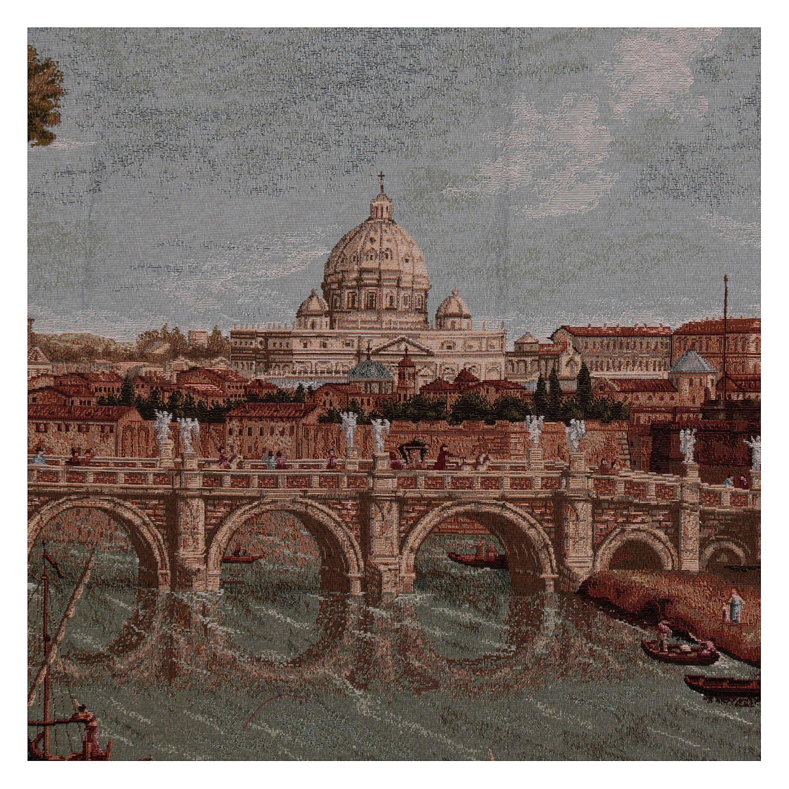Arazzo Castel Sant'Angelo cornice ganci 70x120 cm 3