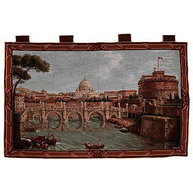 Arazzo Castel Sant'Angelo cornice ganci 70x120 cm s1