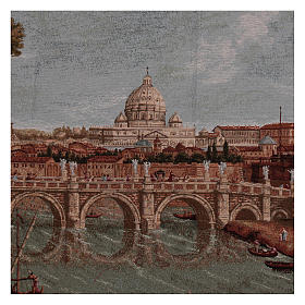 Arazzo Castel Sant'Angelo cornice ganci 70x120 cm s2