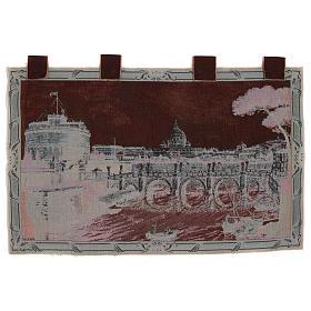 Arazzo Castel Sant'Angelo cornice ganci 70x120 cm s3