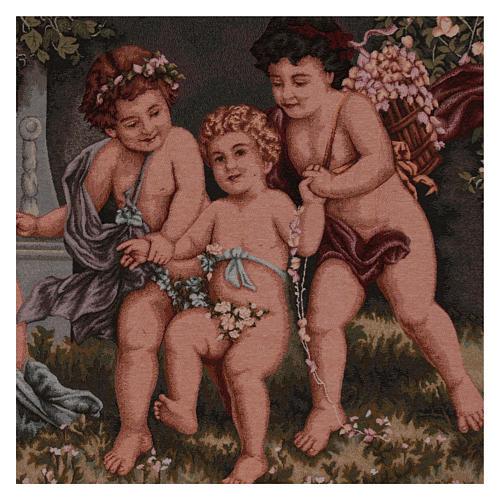 Tapisserie Putti bords décorés passants 60x120 cm 2