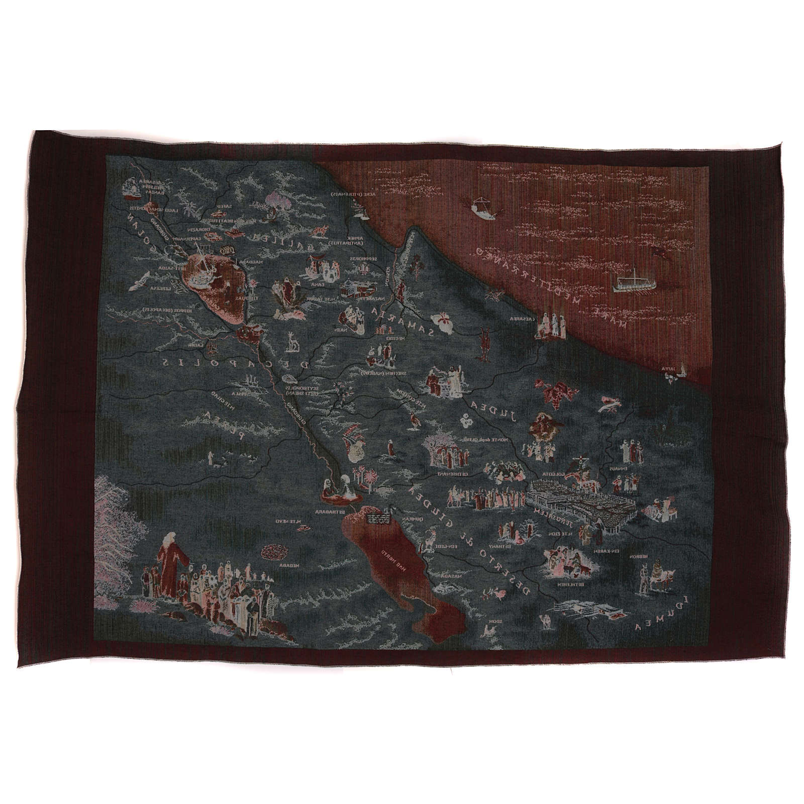 Map of Jerusalem tapestry 90x120 cm 3
