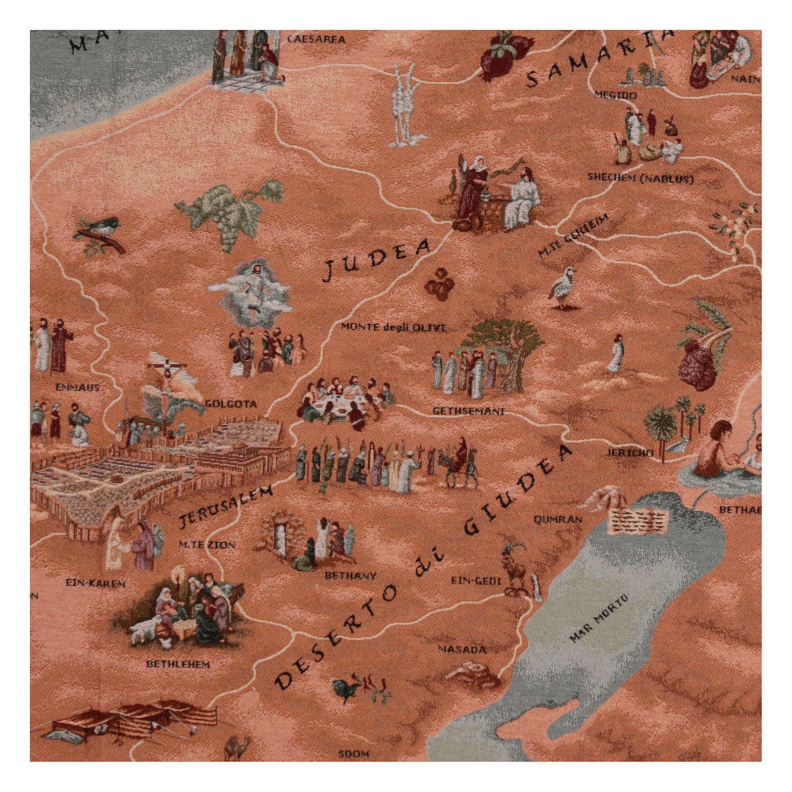 Tapiz mapa de Jerusalén 90x120 cm 3