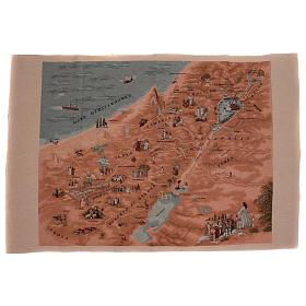 Tapiz mapa de Jerusalén 90x120 cm s1