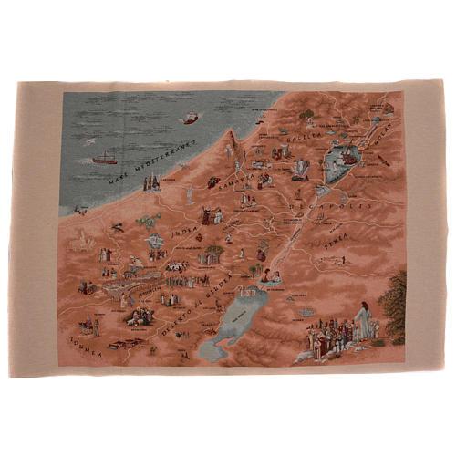 Map of Jerusalem tapestry 35.5x47