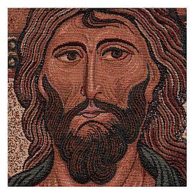 Wandteppich Christus Pantokrator von Monreale 45x30 cm s2