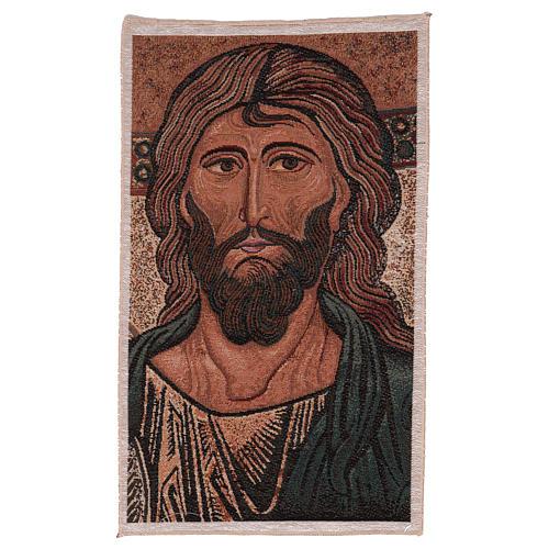 Wandteppich Christus Pantokrator von Monreale 45x30 cm 1