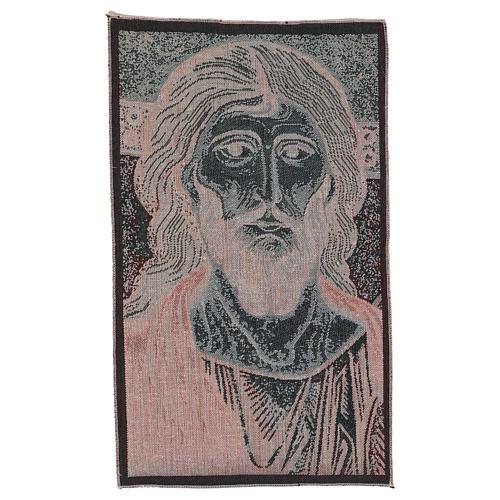 Wandteppich Christus Pantokrator von Monreale 45x30 cm 3