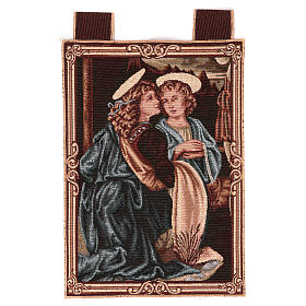 Wandteppich Engel der Taufe Christi 40x30 cm s1