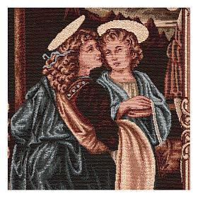Wandteppich Engel der Taufe Christi 40x30 cm s2
