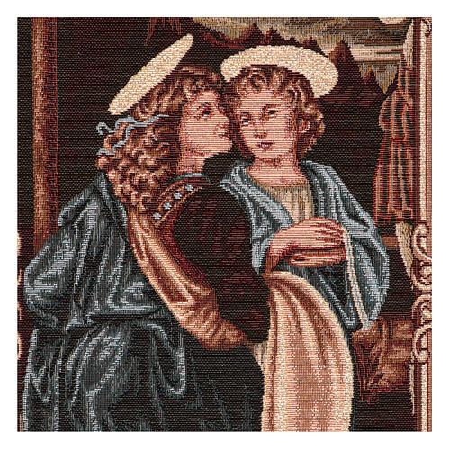 Wandteppich Engel der Taufe Christi 40x30 cm 2