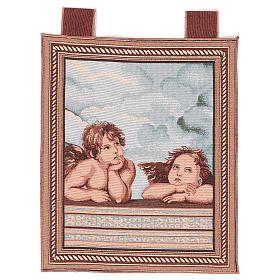 Arazzo Angeli di Raffaello cornice ganci 50x40 cm s1