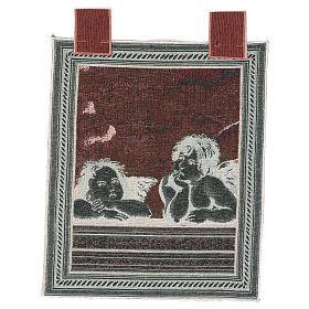 Arazzo Angeli di Raffaello cornice ganci 50x40 cm s3