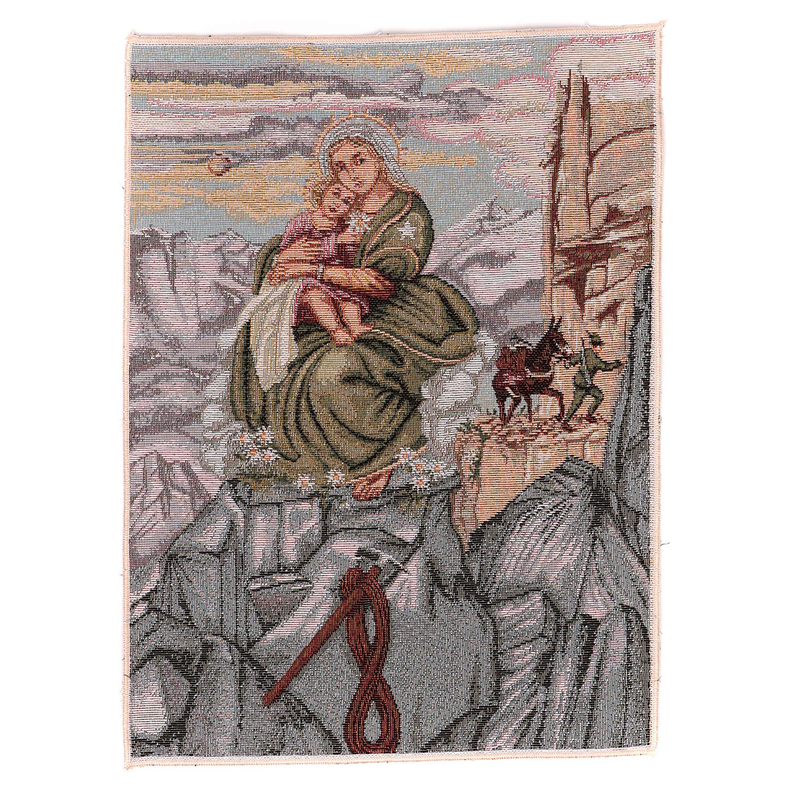 Arazzo Madonna degli Alpini 40x30 cm 3