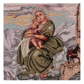 Arazzo Madonna degli Alpini 40x30 cm s2