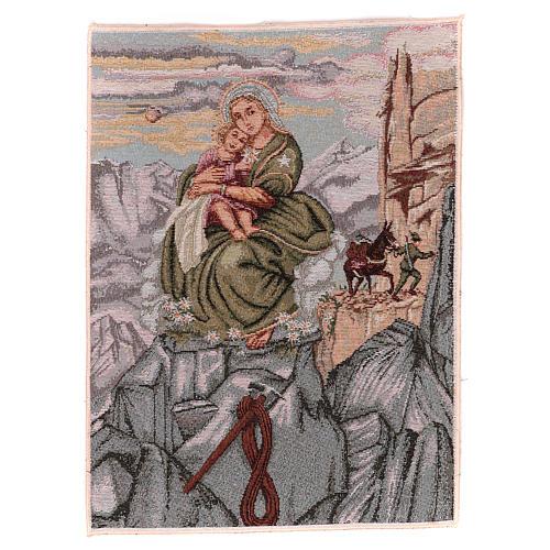 Arazzo Madonna degli Alpini 40x30 cm 1