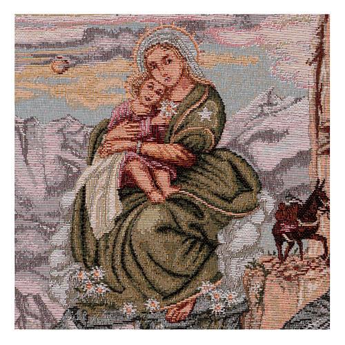 Arazzo Madonna degli Alpini 40x30 cm 2