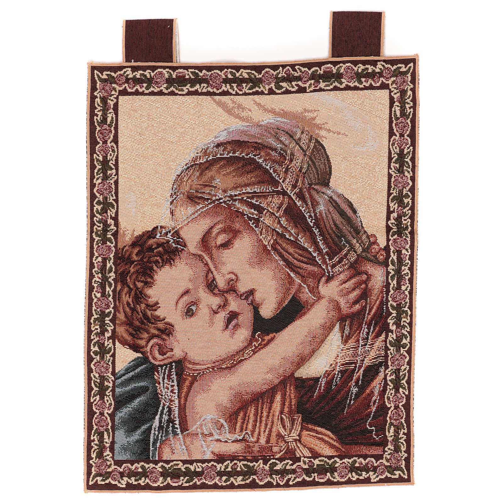 Arazzo Madonna con Bambino di Botticelli 50x40 cm 3