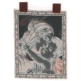 Arazzo Madonna con Bambino di Botticelli 50x40 cm s3