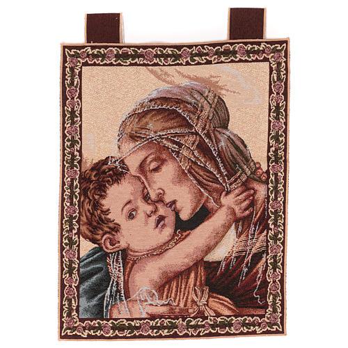 Arazzo Madonna con Bambino di Botticelli 50x40 cm 1