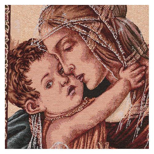 Arazzo Madonna con Bambino di Botticelli 50x40 cm 2