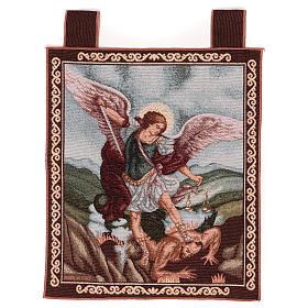 Tapiz San Miguel Arcángel 50x40 cm con ganchos s1