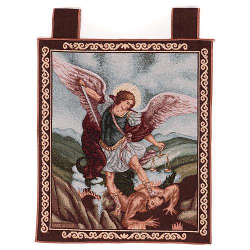 Tapisserie St Michel Archange cadre passants 50x40 cm