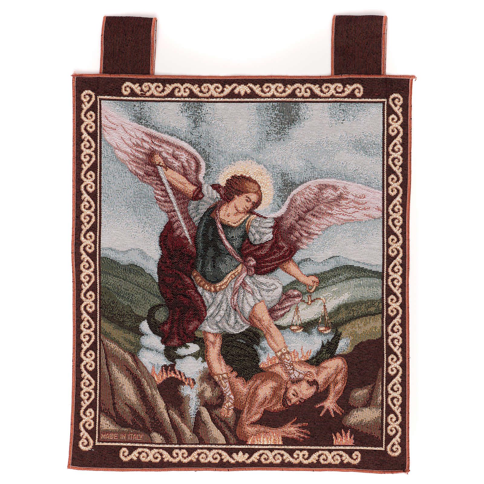 Arazzo San Michele Arcangelo 45x40 cm con ganci 3