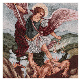 Arazzo San Michele Arcangelo 45x40 cm con ganci s2