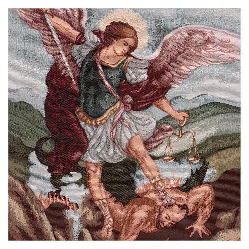 Saint Micheal Archangel tapestry 17.5x15