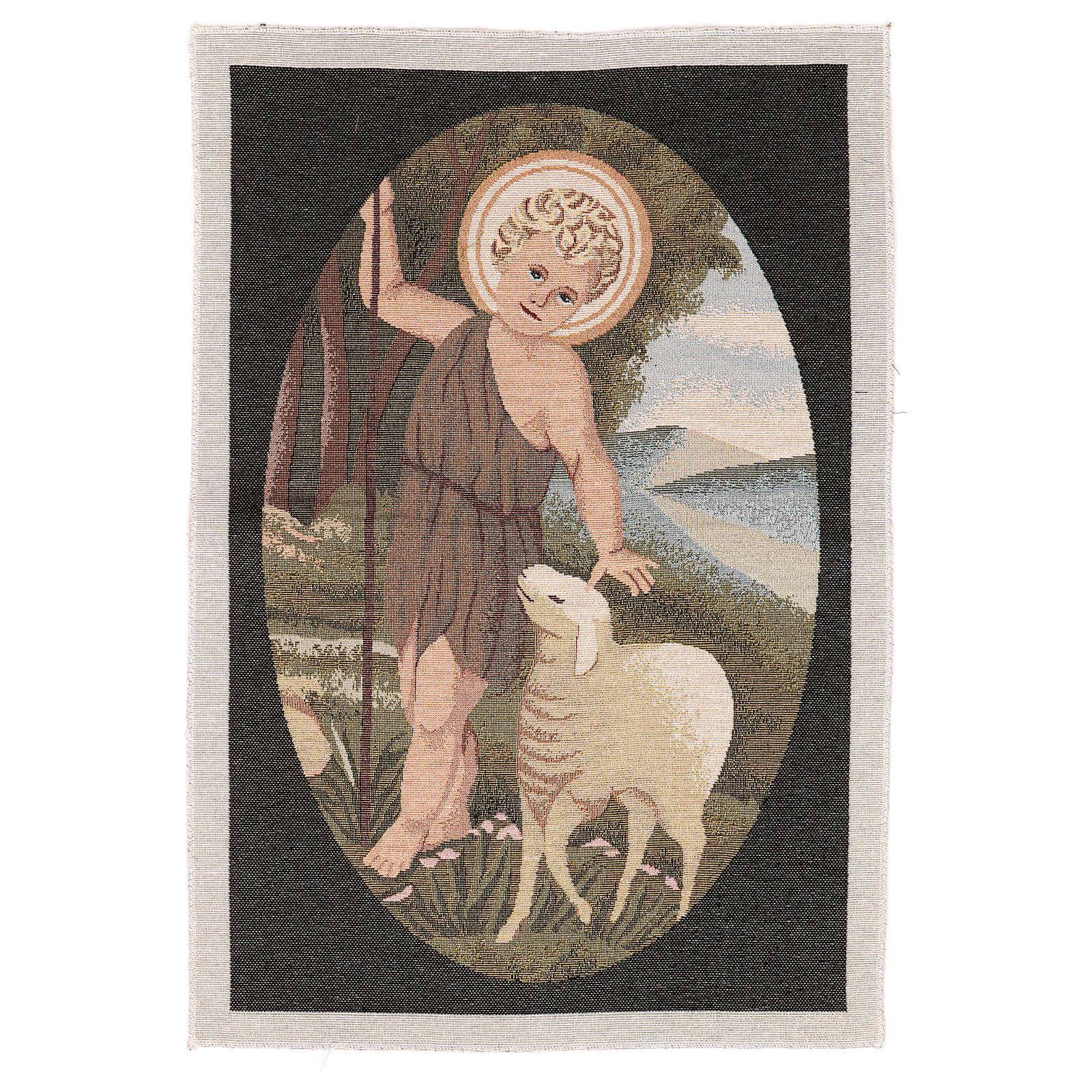 Arazzo San Giovanni Battista Bambino 50x40 cm 3