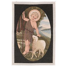 Arazzo San Giovanni Battista Bambino 50x40 cm s1