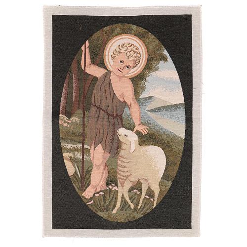 Arazzo San Giovanni Battista Bambino 50x40 cm 1
