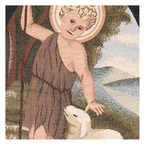 Arazzo San Giovanni Battista Bambino 50x40 cm 2