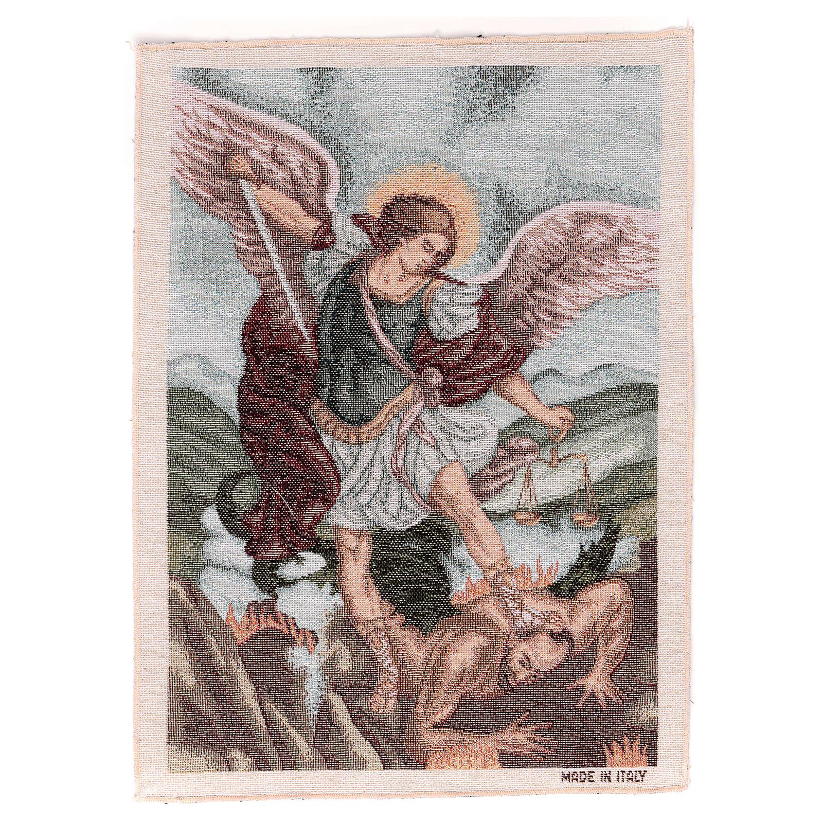 Arazzo San Michele Arcangelo 40x30 cm 3