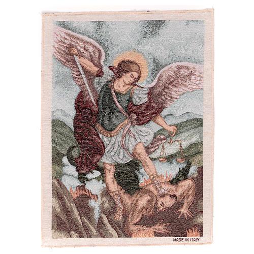 Arazzo San Michele Arcangelo 40x30 cm 1