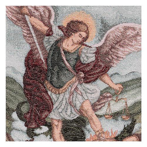 Arazzo San Michele Arcangelo 40x30 cm 2