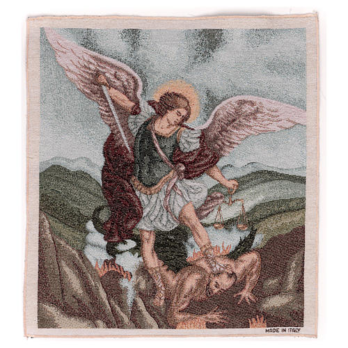 Saint Micheal Archangel tapestry 50x40 cm 1