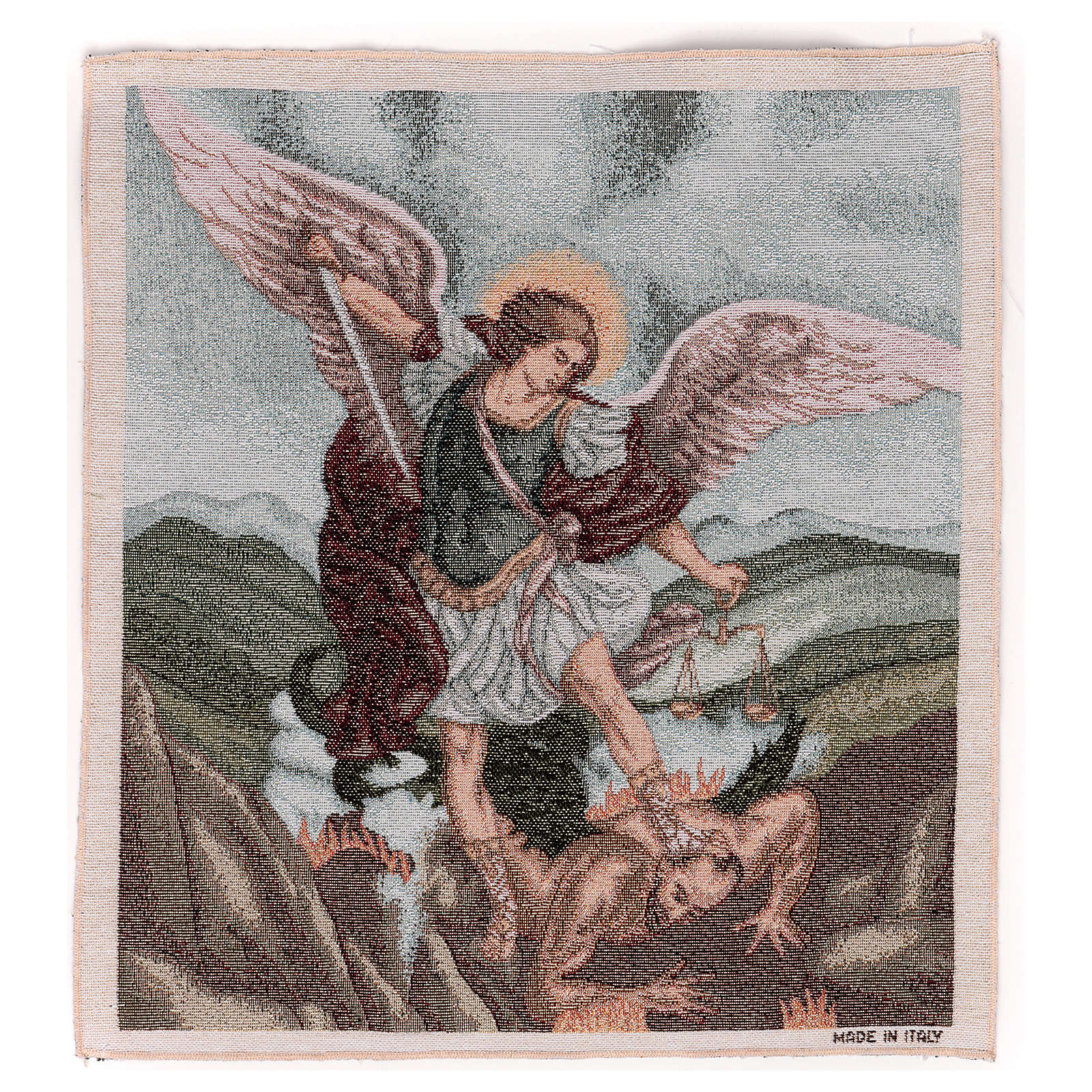 Tapisserie St Michel Archange 50x40 cm 3