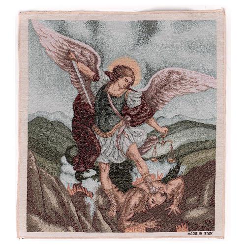 Tapisserie St Michel Archange 50x40 cm 1