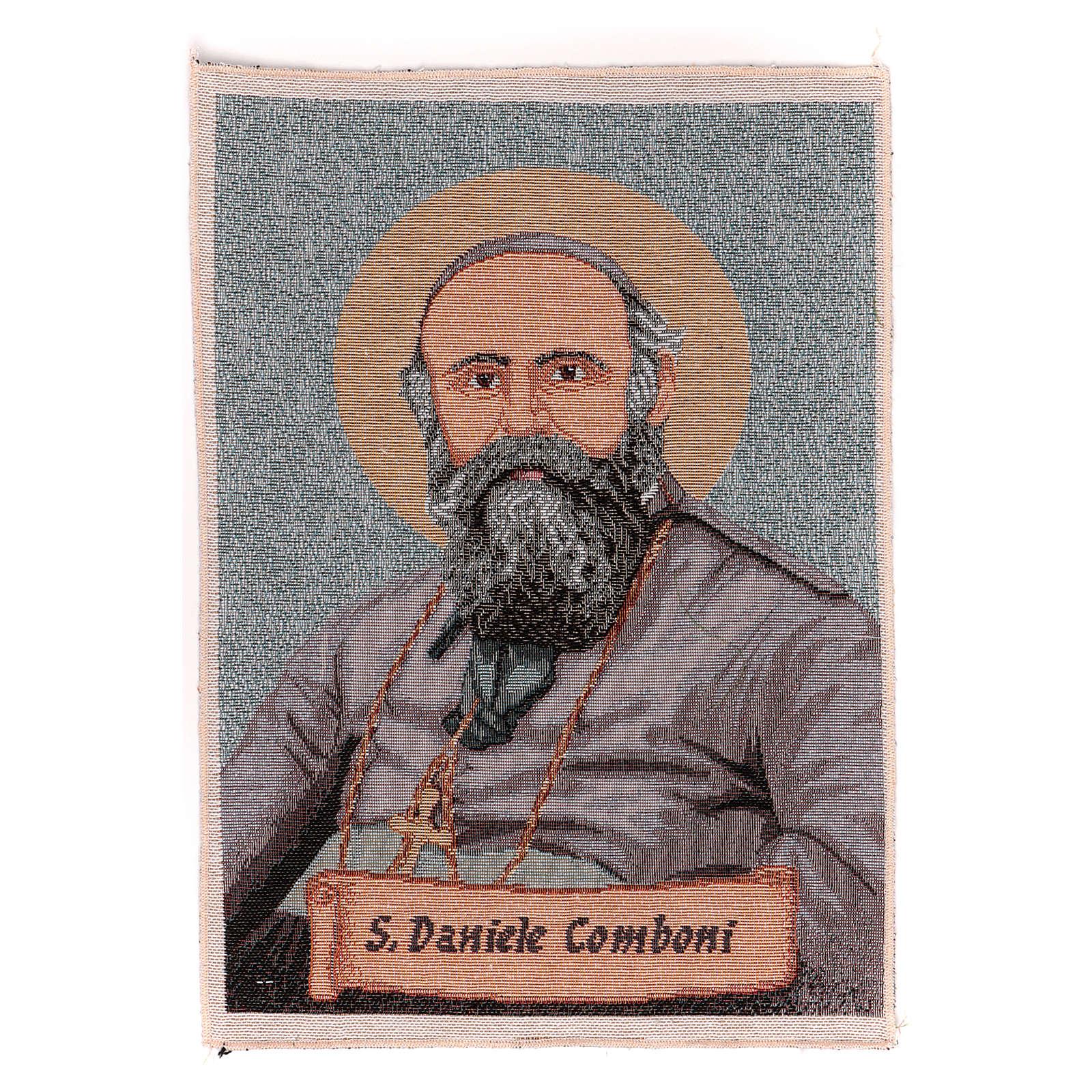 Saint Daniele Comboni tapestry 40x30 cm 3