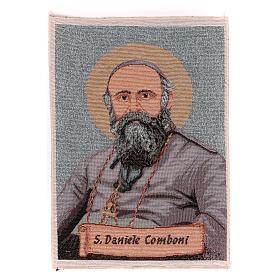 Saint Daniele Comboni tapestry 40x30 cm s1