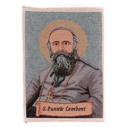 Saint Daniele Comboni tapestry 40x30 cm 1