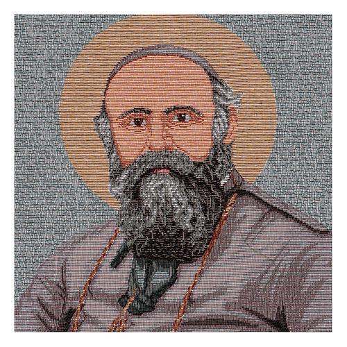 Saint Daniele Comboni tapestry 40x30 cm 2