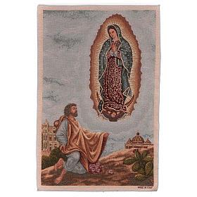 Tapisseries religieuses: Tapisserie Apparition de la Vierge de Guadeloupe à St Juan Diego 60x40 cm