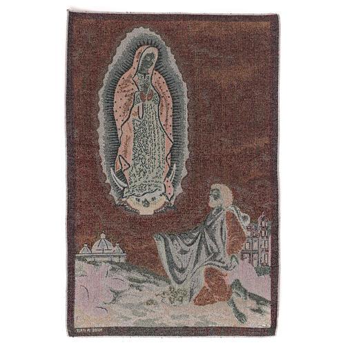 Arazzo Apparizione Guadalupe a San Juan Diego 60x40 cm 3